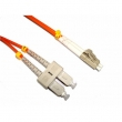 Fiber duplex patch cord kabl SC-LC duž. 2m, multimode 50/125, UPC (ultra polish qualities) - fabrički napravljen i testiran