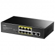 Cudy FS1010PG PoE+ svič 10-portni (8 PoE+ 802.3af/at 10/100Mb/s do 32W po portu / ukupno do 120W + 2 Gigabit 10/100/1000Mb/s), VLAN & CCTV extend mode do 250m, prenaponske zaštite, PoE Watchdog, MTBF≥50,000h (5.7god)