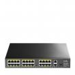 Cudy FS1026PS1 PoE+ svič 26-port (24 PoE+ 802.11af/at do 30W po portu / ukupno do 300W + 2 Giga 10/100/1000Mb/s / 1 SFP slot), VLAN & CCTV extend mode 250m, PoE Watchdog & prenaponske, MTBF≥100,000h (11.4god), -20⁰C÷50⁰C