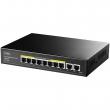Cudy GS1010PE PoE+ Gigabit desktop svič 10-port 10/100/1000Mb/s (8 PoE 802.3at/af do 120W, port max. 30W)