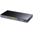"Cudy GS1020PS2 PoE+ Gigabit svič 16-port 10/100/1000Mb/s 802.3at/af do 280W (port do 30W) + 2 x Gigabit + 2 x Combo (SFP/UTP),  VLAN & CCTV extend mode 250m, prenaponske zaštite, 19"" rackmount"