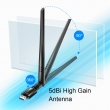Cudy WU1400 WiFi AC1300Mb/s High Gain USB 3.0 adapter dual band 2.4GHz & 5GHz 802.11ac/a/b/g/n, High-gain 5dBi odvojiva antena, Windows / MacOS / Linux drajveri, SoftAP mode, Easy Setup wizard