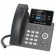 "Grandstream-USA GRP-2612W Carrier-grade 4-line/2-SIP VoIP HD WiFi dual-band 2.4/5GHz telefon, podesivi 2.4"" TFT color LCD 320x240 displej, 16 Virtual Multi-Purpose (VPK) i BLF tastera, 2 x UTP porta 10/100Mb/s, PoE"