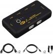 HDMI KVM USB svič CKL-21UH  2 ports HDMI 2.0 Compliant sa kablovima, podržava 4Kx2K@60Hz, YUV 4:4:4, svič mode: push button