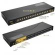 "KVM VGA svič CKL-9116UA 16 ports USB + 16 cables 1.8m - podržava rezoluciju do 2048x1536p (85Hz), izlaz za audio & mikrofon, rackmount 19"", svič: push button/hotkey/OSD"