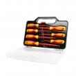 Komplet odvijača električarski sa izolacijom (do 1000V): 7 različitih odvijača, ergonomska drška, namagnetisan vrh, VDE sertifikat (SD-8012)