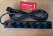 Produžni strujni kabl sa 6 šuko utičnica i prenaponskom zaštitom, dužine 5m, AC 230V - 16A, pakovanje za maloprodaje