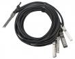 QSFP+ breakout kabl za direktnu 40/10-Gigabit vezu između svičeva/rutera/adaptera, QSFP+ na 4 x SFP+ konektori, dužine 3m (MikroTik Q+BC0003-S+)