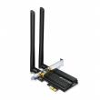 TP-Link Archer TX50E AX3000 wireless dual band PCI Express 802.11ax/ac/a/b/g/n kartica (574Mb/s @ 2.4 & 2402Mb/s @ 5GHz), Bluetooth 5.0, Intel® Wi-Fi 6 chipset, OFDMA&MU-MIMO, WPA3 enkripcija, 2xHigh Gain eksterne antene