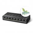 TP-Link LS1008G 8-port Gigabit 10/100/1000Mb/s LiteWave desktop svič, plastično kućište, 802.3x flow control, 16KB jumbo frame, auto-uplink every port, fanless, energy-efficient