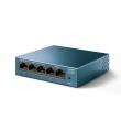 TP-Link LS105G 5-port Gigabit 10/100/1000Mb/s LiteWave desktop svič, metalno kućište, 802.3x flow control, 802.1p/DSCP QoS, 16KB jumbo frame, auto-uplink every port, energy-efficient