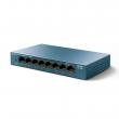 TP-Link LS108G 8-port Gigabit 10/100/1000Mb/s LiteWave desktop svič, metalno kućište, 802.3x flow control, 802.1p/DSCP QoS, 16KB jumbo frame, auto-uplink every port, energy-efficient