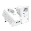 TP-Link TL-PA7027PKIT 1000Mbps AV1000 Powerline Adapter Kit (2 kom komplet) sa integrisanom šuko utičnicom za mrežu preko strujne instalacije, 2xGigabit LAN, plug&play instalacija, domet do 300m
