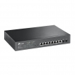 TP-Link TL-SG2210MP PoE+ upravljiv svič 8-port Gigabit 802.3af/at do 150W+ 2 x SFP Gigabit, L2/L2+ karakteristike, SNMP, IPv6, QoS 802.1p priority, Bandwidth Control, Omada SDN, Rackmount/Desktop