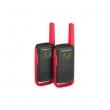 Voki toki Motorola TLKR T62 (par),crvena boja, 16 kanala na slobodnim frekvencijama PMR446, 121 privatni kod, skeniranje kanala/monitor, LCD displej, microUSB punjač, dopunjive NiMH baterije, domet do 8km