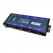 ZLAN industrijski 8-portni RS-232/422/485 serijski device server i MODBUS gateway ZLAN5843A, DB9/terminal portovi, 2 x LAN za kaskadu do 8 uređaja, 2KV izolacija, 9~24Vdc PSU (kupuje se posebno) ili pasivni PoE, -40~85°C